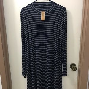 NWT American Eagle Long Sleeved Striped Dress